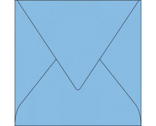 20 Enveloppes 165x165 POLLEN - bleu lavande - 120g patte pointue gommée