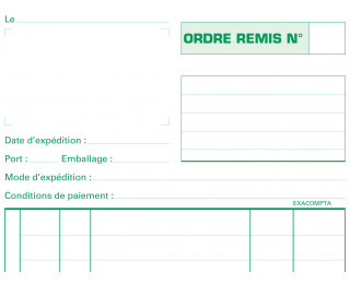 Carnet d'ordre - 3100E - EXACOMPTA - 21 x 13,5 cm