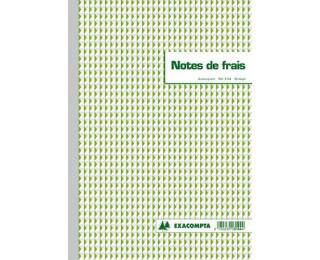 Carnet de note de frais en dupli - 3144E - EXACOMPTA - 29,7 x 21 cm