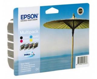 Pack 4 cartouches d'encre EPSON T0445 parasol - 4 couleurs