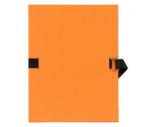 Chemise à sangle 24 x 32 cm - EXACOMPTA - Dos 12 mm - Orange