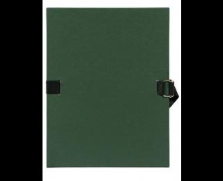Chemise à sangle 24 x 32 cm - EXACOMPTA - Dos 12 mm - Vert foncé