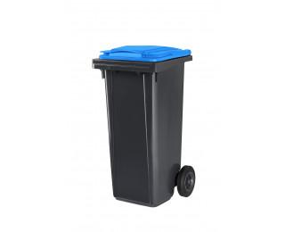 Poubelle conteneur 2 roues - CEP - 120 litres - Gris/bleu