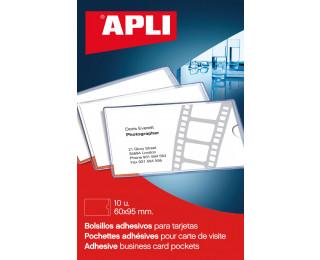 10 porte-cartes visite - APLI - 95x60 - Transparent