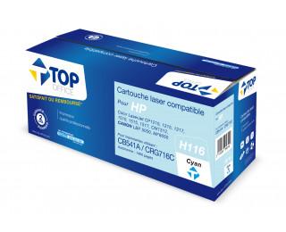 Toner compatible HP 125A (CB541A) - TOP OFFICE - Cyan