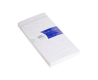 25 enveloppes 110x220 mm - Vergé gommées doublées - G.LALO  - 150g - Extra blanc