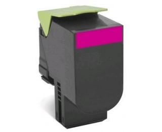 Toner laser 80C2SME - Lexmark - Magenta - Grande Capacité
