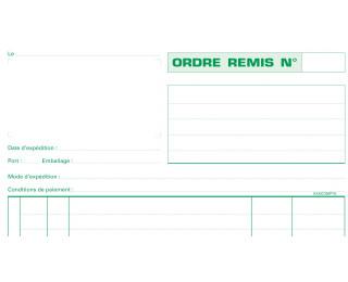 carnet d'ordre - 13106E - EXACOMPTA - 21 x 29,7 cm