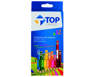 Pochette de 12 crayons de couleur - TOP OFFICE