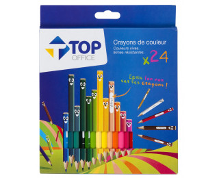 Pochette de 24 crayons de couleur - TOP OFFICE
