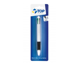 Stylo bille 4 couleurs - TOP OFFICE