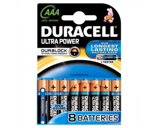 8 Piles LR03 Ultra Power - DURACELL