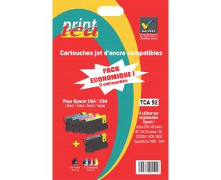 Pack économique 4 cartouches d'encre compatible EPSON T044 noire, cyan, magenta, jaune