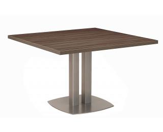 Table réunion carrée VERMONT - Finition noyer fumé/taupe