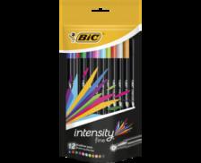 Lot de 12 feutres d'écriture Intensity - BIC - Pointe fine - Assortis