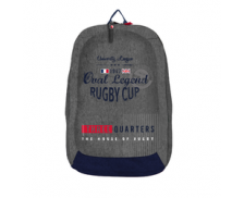 Sac à dos Oval Legend Rugby Cup - BAGTROTTER - 1 compartiment - Gris