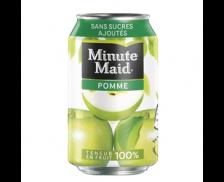 Pack de 24 canettes de 33 cl - MINUTE MAID Pomme