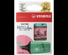 Lot de 3 surligneurs Pastel - STABILO - Menthe, rose, turquoise