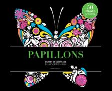 Carnet de coloriage papillon - HACHETTE - Fond noir