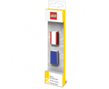 Lot de 2 Taille-crayons - LEGO - Rouge et Bleu