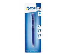 Stylo roller effaçable rechargeable - TOP OFFICE - Bleu