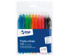 Lot de 10 porte-mines - TOP OFFICE - 0.7mm