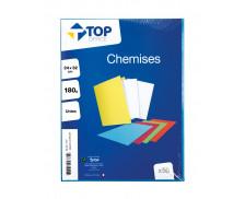Lot de 50 chemises 24x32 cm - TOP OFFICE - 180G - Bleu vif