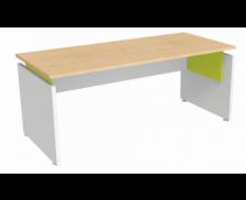Bureau droit - INEO - L160 cm - Chêne/Anis/gris