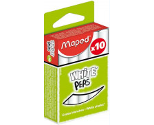Boîte de 10 craies blanches White Peps - MAPED