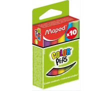 Boîte de 10 craies Color peps - MAPED - Assortiment de couleurs