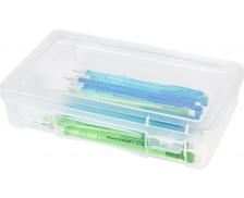Boite plastique rectangulaire Modular - Couvercle clips