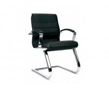 Chaise de bureau Luxe 15 - Noir - Croûte de cuir