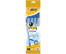 Pochette de 4 stylos bille Cristal soft - BIC - Bleu