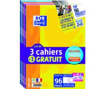 Lot de 4 cahier Openflex - OXFORD - Format A4 21x29.7 cm - Grands carreaux