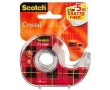 Ruban adhésif Crystal - SCOTCH - Avec dévidoir