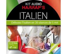 Kit Audio Italien HARRAP'S : Débutez l'italien en 20 séances de 5 mn
