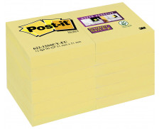 Lot 12 blocs supersticky - POST IT - 51x51 mm - Jaune