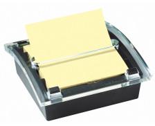 Devidoir noir Z-note Millenium - POST IT - 76x76 mm - Jaune