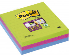 3 Blocs post-it Supersticky - POST IT - 100x100 mm - Assortiment