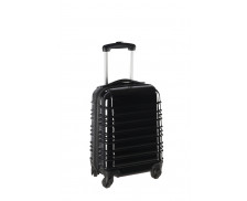 Valise brillante ABS 60cm - Rayures noires