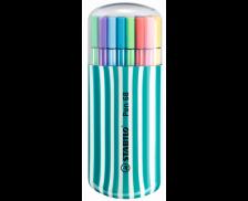 Boite de 20 feutres pen 68 - STABILO - Pointe moyenne - Assortiment de couleurs
