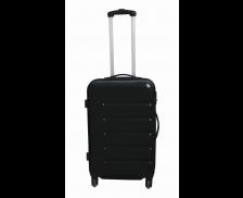 Valise en ABS brillant 60 cm - Noire - Larges rayures