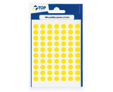 Etui de 490 pastilles diamètre 8 mm - TOP OFFICE - Jaune