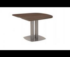 Table 1/2 ovale - XENON - L102 cm - Finition chêne/blanc
