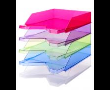 Corbeille à courrier Silky - JALEMA - Vert transparent