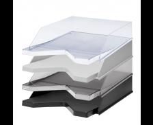 Une corbeille à courrier - JALEMA - Transparent cristal