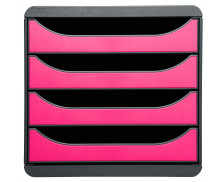 Bloc de classement bigbox - EXACOMPTA - 4 tiroirs - Gris/rose