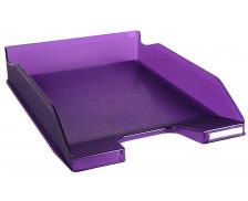 Corbeille à courrier Combo 2 Classic - EXACOMPTA - Violet translucide