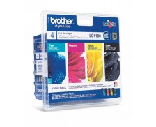 Pack 4 cartouches d'encre BROTHER LC1100 - 4 couleurs