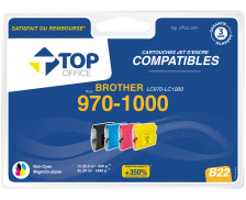 Pack 4 cartouches d'encre compatible BROTHER LC970 / LC1000 – 4 couleurs